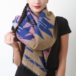 Lightweight Multi color blanket scarf